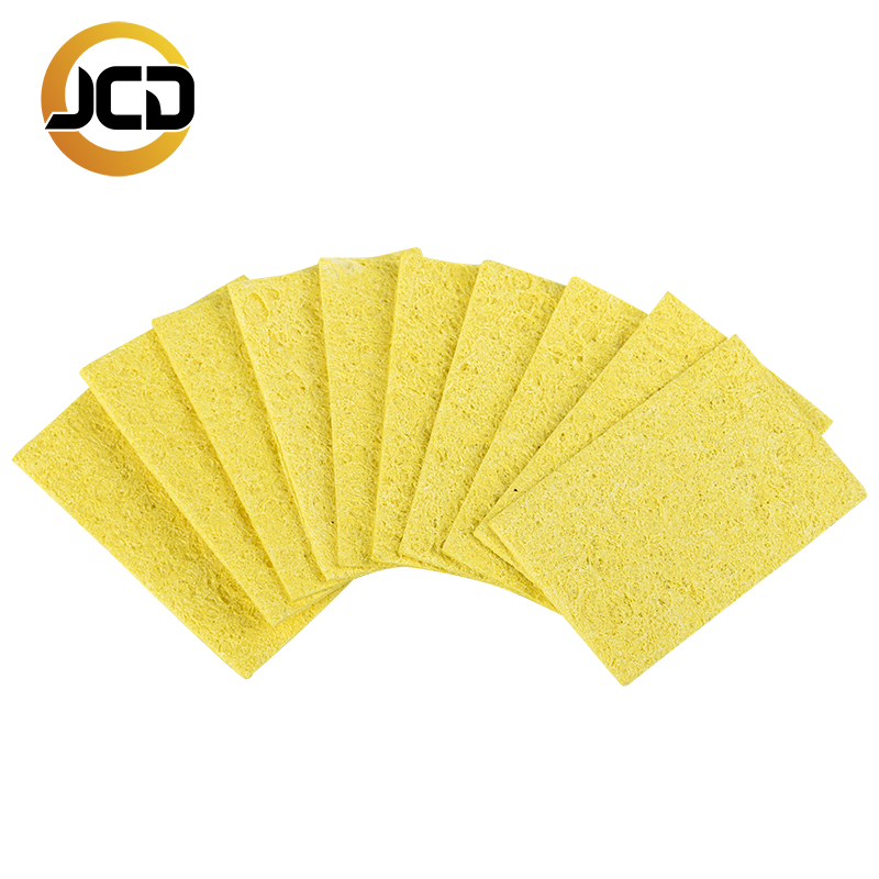 10pcs/lot Cleaner Sponge Soldering Iron Cleaning Yellow Sponge Welding Soldering Iron Tip Cleaner Pads Tools Top Quality