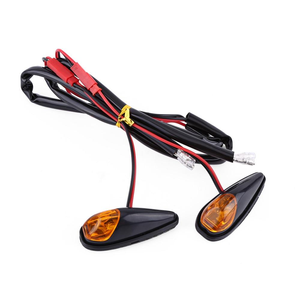 Car-Styling 2pcs LED Motorcycle Flush Mount Turn Signal Light Motorbike Indicator Lamp Amber