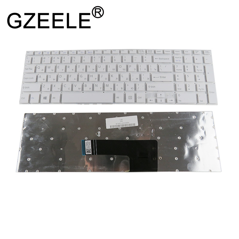 GZEELE NEW Russian keyboard For Sony VAIO svf152c29v Fit 15 SVF152A29V SVF152A29M SVF15A SVF15E SVF153A1YV white laptop RU
