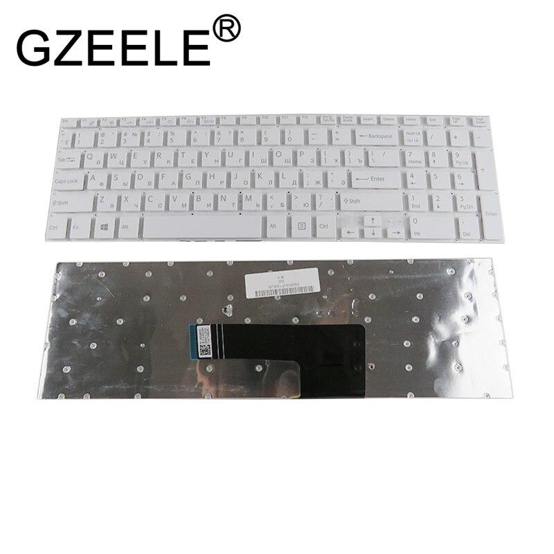 GZEELE NUOVA tastiera Russa Per Sony VAIO VGN-svf152c29v Fit 15 SVF152A29V SVF152A29M SVF15A SVF15E SVF153A1YV bianco del computer portatile RU