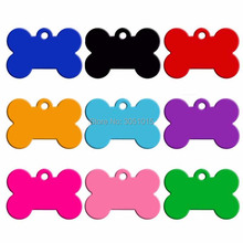 Wholesale 20pcs Bone Double Sides Personalized Dog ID Tags Customized Cat Puppy Name Phone No. Pet ID Tags Dog Cat Name Phone