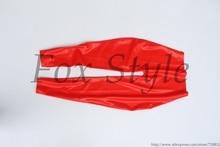 Red slim latex leggings in (high quanlity level) latex