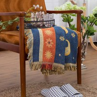 130x180cm European Throw Blanket Sofa Decorative Slipcover Travel Soft Comfortable Plaid Non slip Stitching Blankets