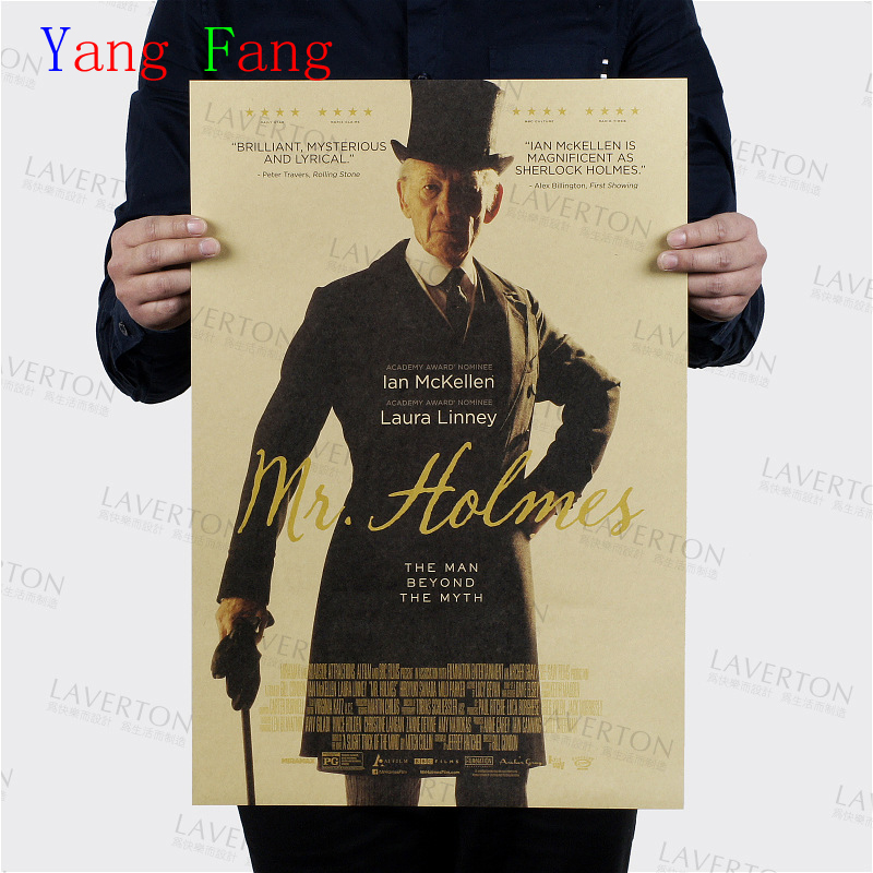 9e50d0707df43 Wall sticker Sherlock Holmes vintage poster retro Benedict Cumberbatch  posters episodes wall stickers home decor 51 35cm