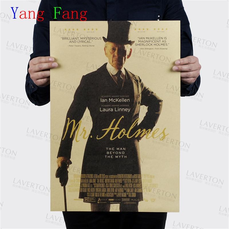 Wall Sticker Sherlock Holmes Vintage Poster Retro Benedict