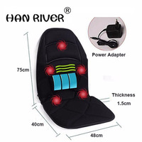 Neck Back Massage Heat Cushion Home Car Magnetic Field Lumbar Heat Vibrate Cushion Neck Massage Chair Massage Relaxation