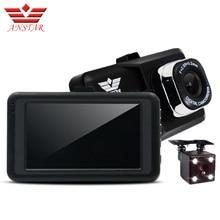 Anstar 3ch Автомобильный видеорегистратор Камера Двойной объектив видео Регистраторы автомобиля Камера регистраторы Автомобильные видеорегистраторы HD 1080 P Blackbox dashcam автомобиля мониторы