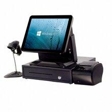 Весь набор дешевые машины pos система с 80 мм принтер/денежный ящик/сканер штрих-кода для розничной денежный regisetr /точки продаж