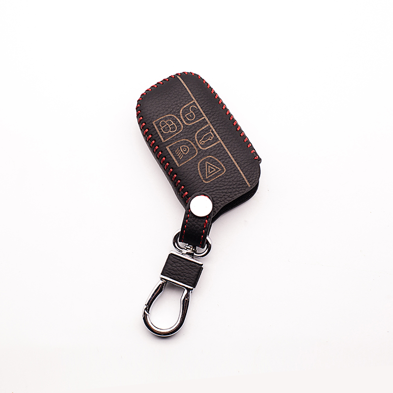High-quality hand-sewn leather car key cover for Land Rover a9 series freibers freelander Evoque found 5 buttons Keyboard cover