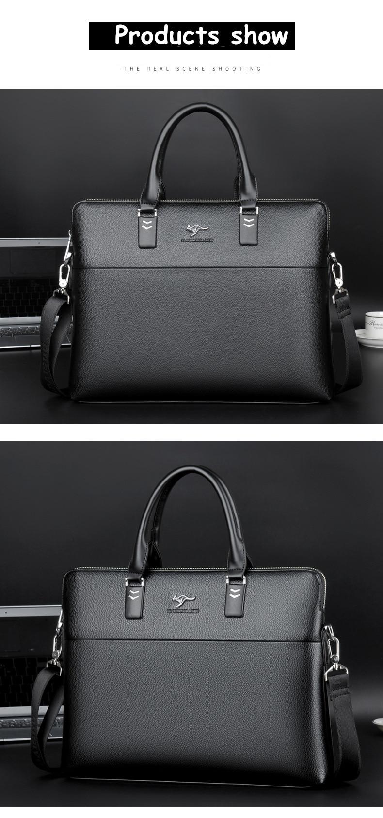 HTB1Rfa XfNNTKJjSspeq6ySwpXaC TIANHONGDAISHU Men Casual Briefcase Business Shoulder Leather Messenger Bags Computer Laptop Handbag Men's Travel Bags handbags