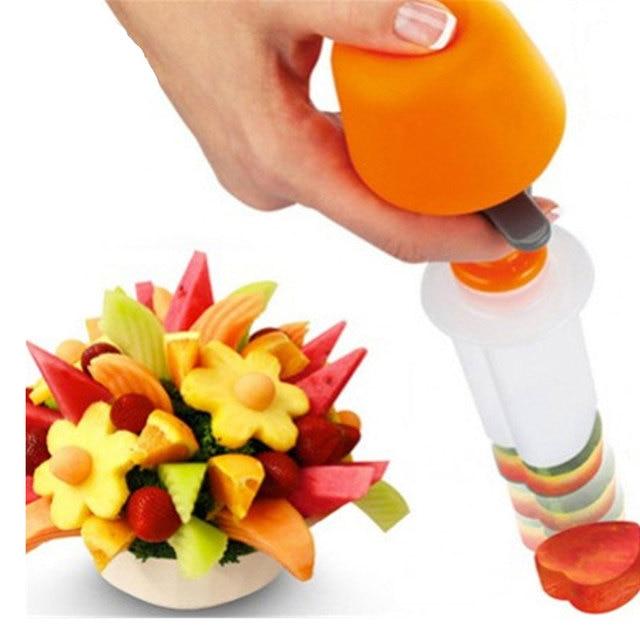 6 PCS Creativo Accessori Per la Cucina di Cottura di Frutta di Plastica a Forma