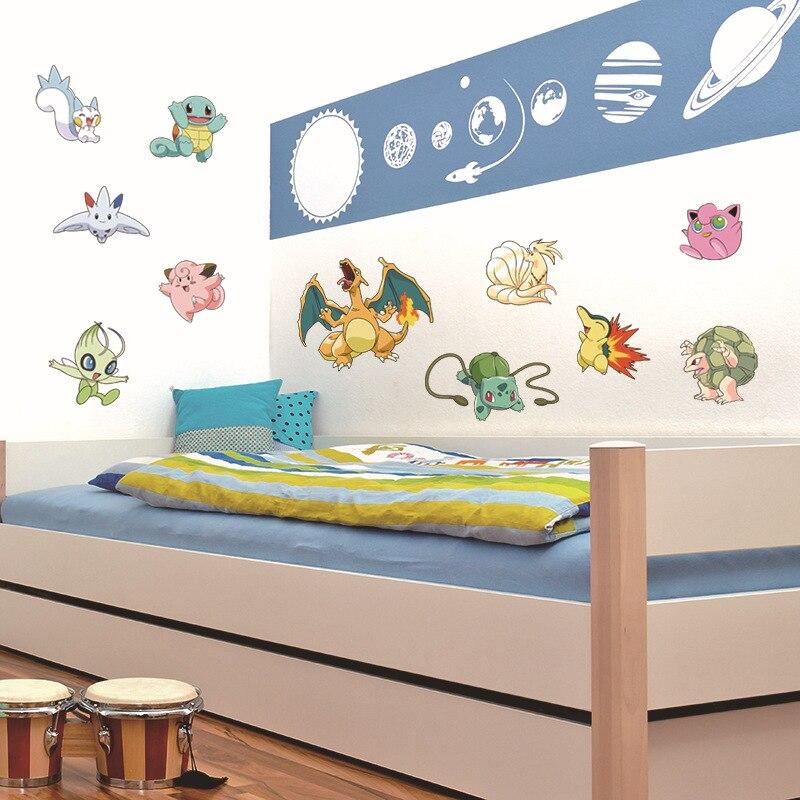 pokemon go diy cute monster kids wall sticker mural home decal boy girl bedroom decorations decor