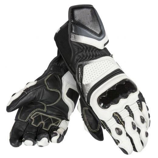 Motocross Off-road Racing Dain Carbon D1 Gloves Long Leather Men's Gloves Black/White