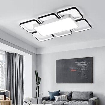Wohnzimmer Lampe Einfache Moderne Atmosphäre Hause Rechteckigen Fernbedienung Mode Led Schlafzimmer Lampe Decke Lampe Nordic Lampen