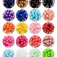20color 3 дюйма Новое поступление в Корейском стиле для девочек резинки для волос Веревка большой цветок из корсажной ленты эластичные резинки для волос аксессуары 813