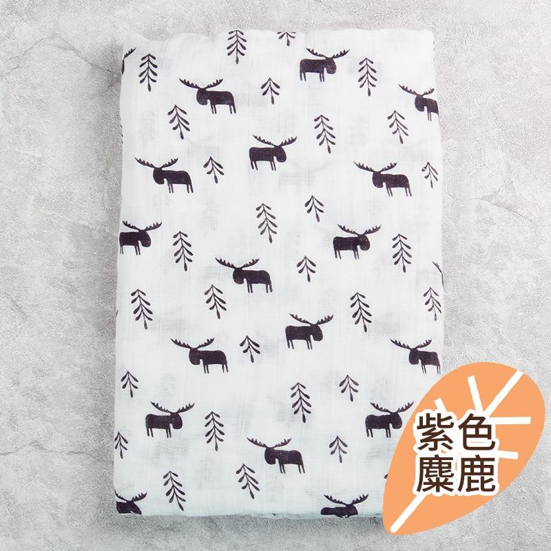 2 layers 120*120cm crib quilt Muslin Gauze printing 100% cotton swaddle Blanket Newborn cartoon Bath Towel