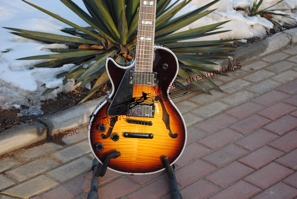 China Top quality firehawk OEM shop Electric Guitar Electric hollow jazz guitar left hand guitar and right hand guitar
