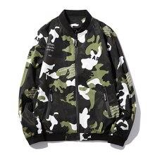 Fashion jacket men polo jacket hip hop casual camouflage jacket coat mens clothing clothes letter plus size outwear punk