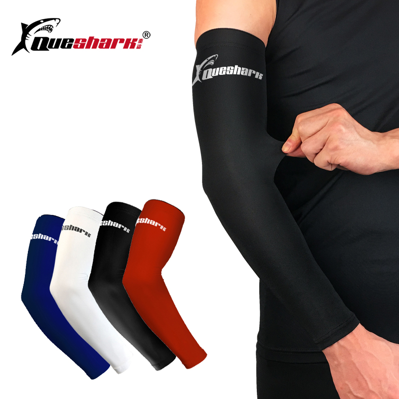 Cycling Basketball Running Anti UV Arm Warmers Sleeve Compression Elbow Pad Cuff