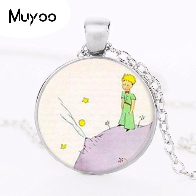 The Little Prince Necklaces Pendants The Little Prince Jewelry Gifts For Children Glass Dome Choker Necklace
