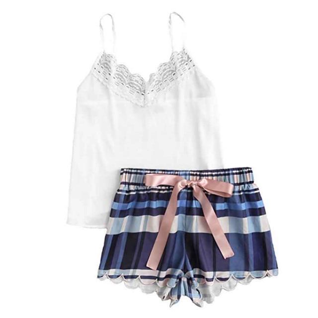 Womail/модное милое кружевное нижнее белье с леопардовым принтом для девочек и шорты, модные сексуальные удобные пижамы, пижамный комплект M301211