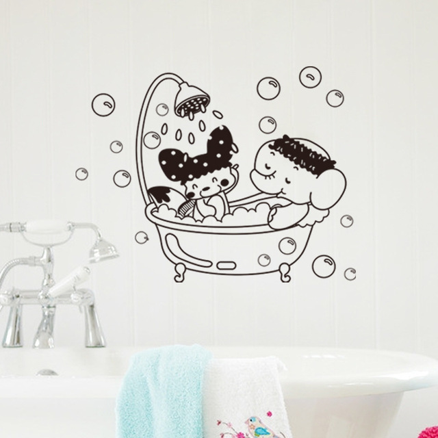 New Sweet Bubble Bathroom Wall Sticker Decal Home Art Mural Decor ...