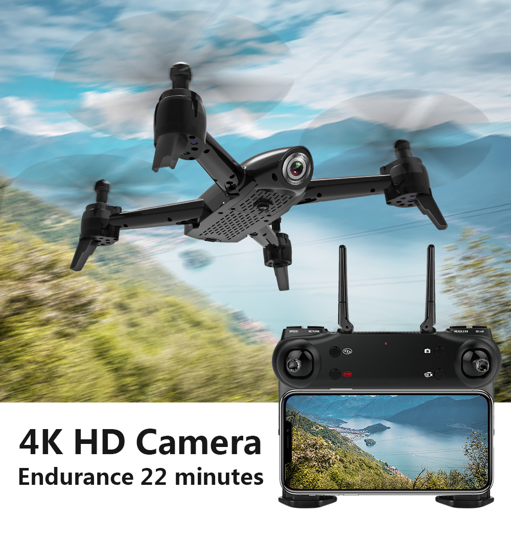 SG106 WiFi FPV RC Drone with 720P or 1080P or 4K HD Dual Camera Optical Flow Aerial Video RC Quadcopter for Toys Kid VS S20 E58