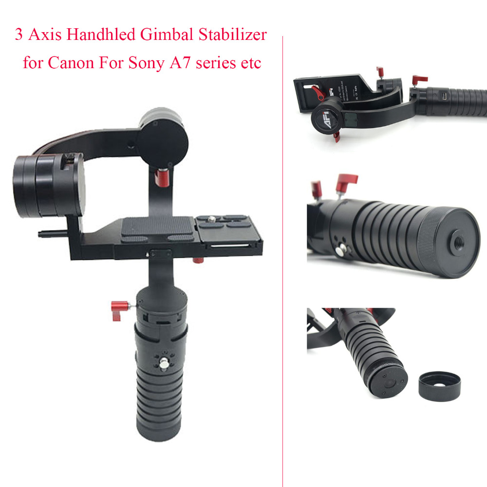 3 Axis Handhled Gimbal Stabilizer for Canon 5D 6D 7D DSLR For Sony A7 series etc Mini SLR as Beholder DS1 MS1,Camera Stabilizer beholder d2 carbon fiber dual handle grip with arch rectangular plate and pergear magic stickers for beholder ds1 ms1 stabilizer