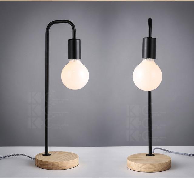 colorido nrdico dormitorio moderno estudio lmpara de escritorio de madera mesa de trabajo simple luz cafe