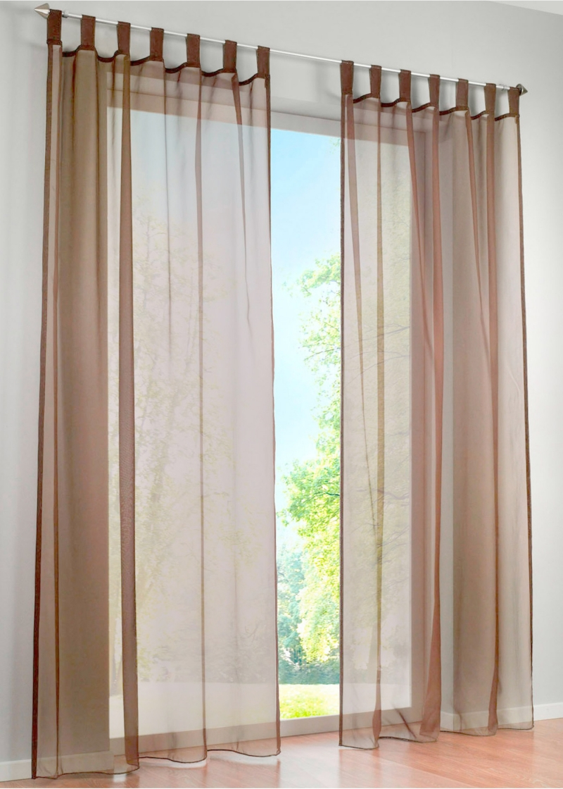 Hot Sale High Quality Western Simple Voile Solid Color Sheer Window Curtains A Pair