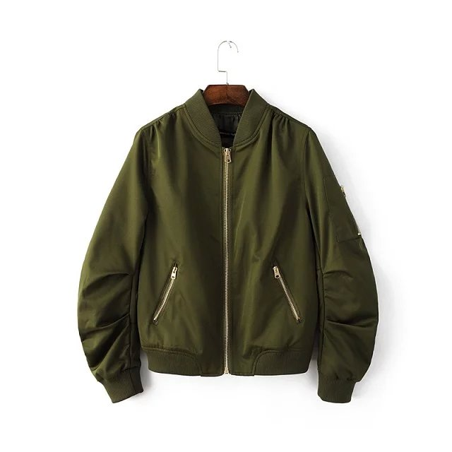 2018 Women Flight Bomber Jackets New arrival hot sale Spring Autumn Army Green Lady Casual short Coat outerwear Navy Black