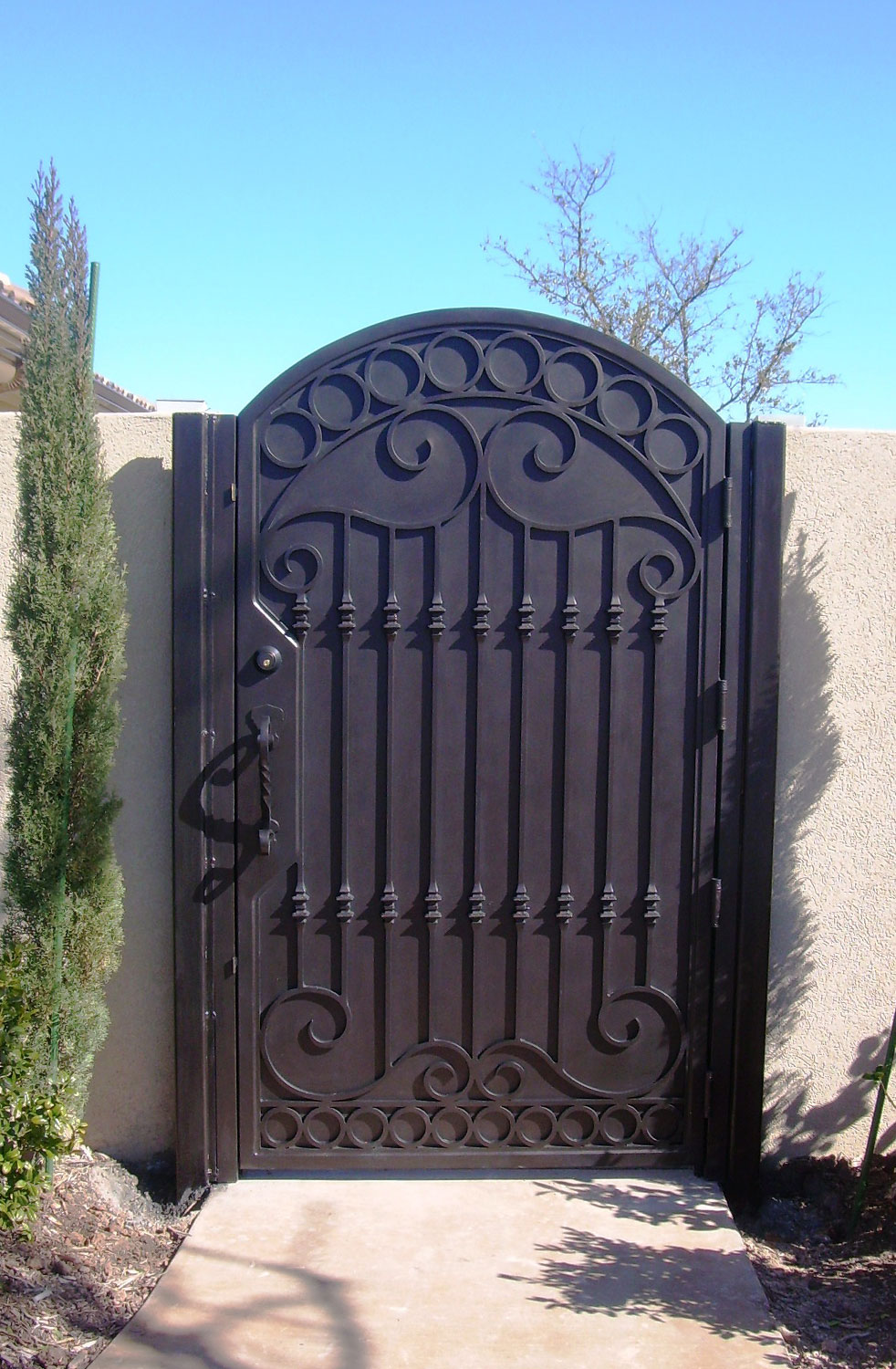Handmade Top Villa Wrought Iron Gate One Stop Shipping To USA Hench-lg13