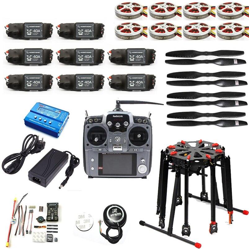 DIY RC Drone Pro 2,4g 10CH RC 8 eje Tarot X8 plegable PIX PX4 M8N GPS ARF/ PNF Kit de desmontaje Motor ESC Octocopter