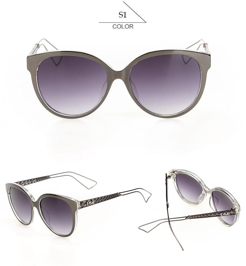 637b9775b0254 Comprar Olho de gato Óculos De Sol Mulheres EE Grife Espelhado Colorido  Óculos de Lente óculos de Sol Óculos de Oculos Feminino Com Logotipo KF102  KF128 ...