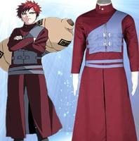 באיכות גבוהה Custom Made מכירת חמה Gaara Cosplay תלבושות (7rd גרסה אדומה) מnaruto Shippuuden אנימה בתוספת גודל (S-6XL)