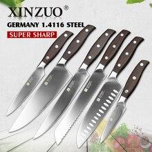 Xinzuo küche werkzeuge 6 stücke küchenmesser set dienstprogramm cleaver chef brot messer-edelstahl-küchenmesser sets kostenloser versand