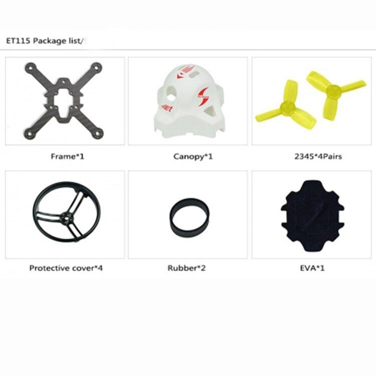 JMT ET100 ET115 ET125 True X Frame KIT for FPV Racing Drone Mini  Quadrocopter Accessories