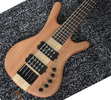 купить Customized new 5-strings electric bass guitar W wood color full body Black Hardwares Offer Customized дешево