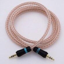 3.5mm Macho para Macho jack AMP DAC TELEFONE Do Carro MP3 Aux Adaptador de áudio cabo de Áudio Cabo 50 cm 16 Núcleos Cabo De Áudio Híbrido