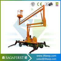Trade Assurance 14m Small Articulated Boom Lift with USA imported engine