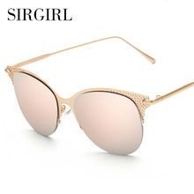 iTao Exaggeration Women Cat Eye Sunglasses Round Mirror Glasses For Women Sunglasses Brand Designer 2017 New Arrival Eyewear