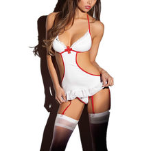 4fa42cbee49 WOMENS LADIES SEXY NAUGHTY NURSE COSTUME LINGERIE HEN FANCY DRESS PARTY  OUTFIT