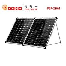 Dokio200W(2Pcs x100W) Monocrystalline Silicon Solar Panel1190*540*70mmFoldable Environmental Protection Panel #FSP-200W