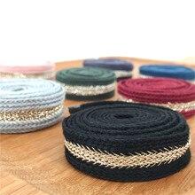 New 9 Colors 2cm Bullion Ribbon Stiching Tape woven ribbon with herringbone DIY webbing belt  garment accessories Accessories