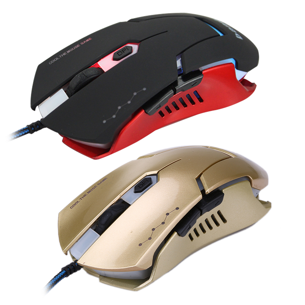 computer office peripherals For Pro Gamer 3200DPI LED Optical 6D Wired Gaming Mouse accessories 7 Keys mice games