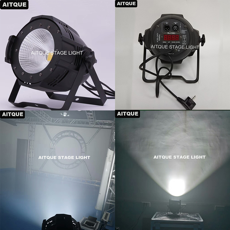 4pcs Theater lamp par led cob 200w cob led par light barndoor cob 200w rgbw 4in1 par 64 led|Stage Lighting Effect|   - title=