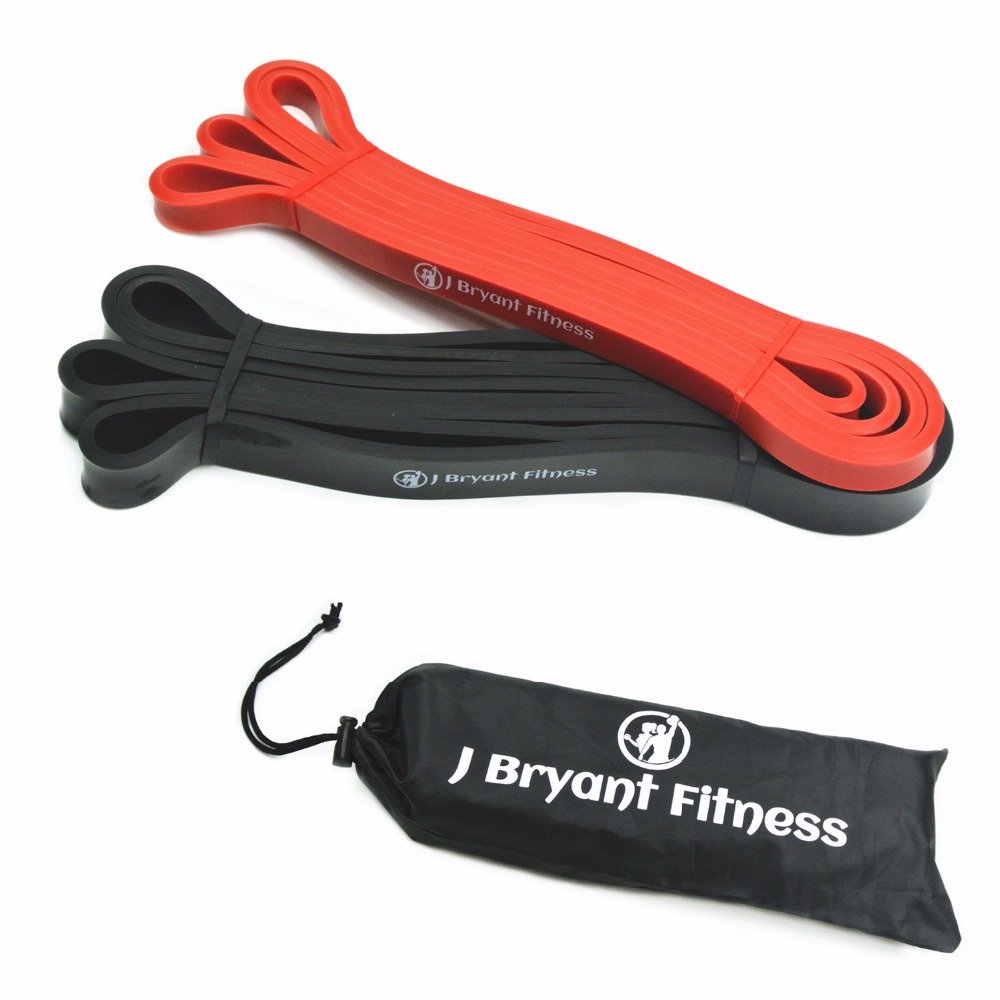 J Bryant Fitness Set Of 2 Natural Latex Resistance And Pull Up Loop Band Athletic Rubber Powerlifting Exercise Resistance Bands