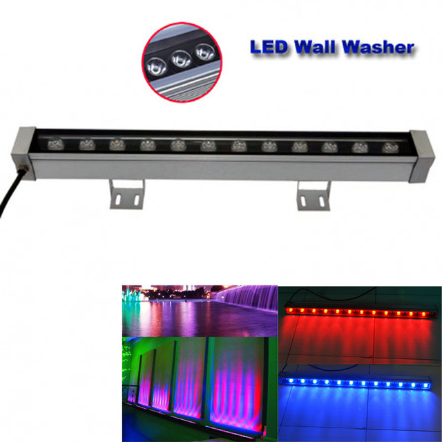 18W 24W 30W 36W waterproof IP65 AC85-265V led flood light LED Wall washer lamps Landscape light Blue/Green/Red/Warm/Cold/RGB