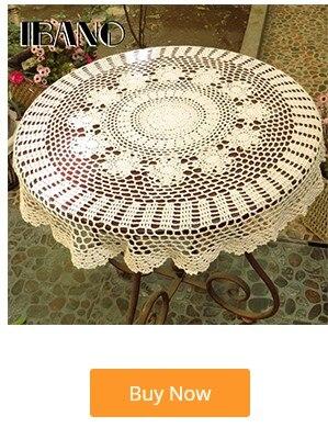Ibano algodão toalha de mesa artesanal flores