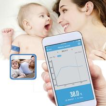 24 часа интеллектуальные ребенка лихорадка монитор с Беспроводной оповещения (iOS и Android) умный браслет Bluetooth монитор лихорадка термометр